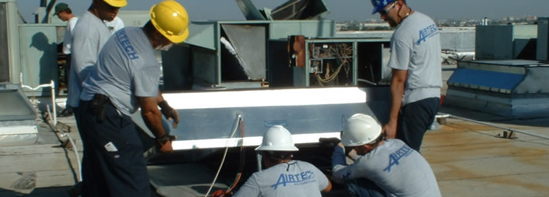 Airtech workers on site